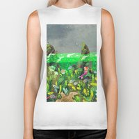 underwater Biker Tanks featuring Underwater by Lara Paulussen