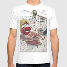 Therapy MEDIUM Mens Fitted Tee White