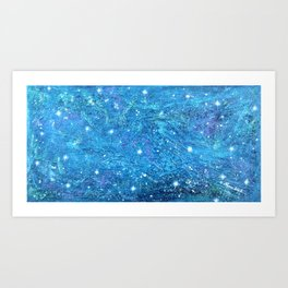 NOCTCAELADOR (love of the night sky) - celestial abstract prophetic art SOUTHERN CROSS STARS Art Print