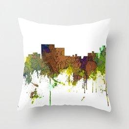 Chatanooga Tennessee Skyline - Safari Buff Throw Pillow