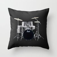 drums Throw Pillows featuring Pearl Drums  by good music