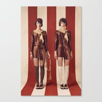 twins Canvas Prints featuring Twins by Rebecca Handler