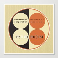 frank underwood Canvas Prints featuring Underwood by One Little Bird Studio