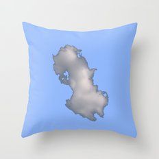 Cloud on Blue Throw Pillow