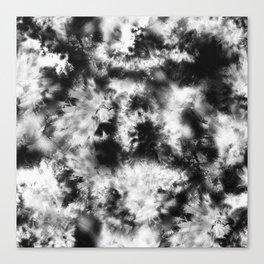 Black and White Tie Dye & Batik Canvas Print