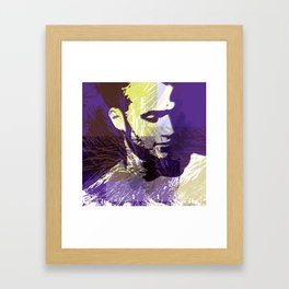 Portrait with nature elements Framed Art Print