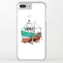 Desert boat Clear iPhone Case