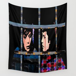 We See The Stars From Behind These Bars Wall Tapestry
