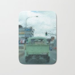 Rainy Days and Vintage Vehicles Bath Mat