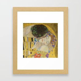 The Kiss - Closeup - Gustav Klimt Framed Art Print