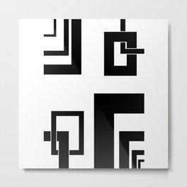4.1 - frames - black and white Metal Print