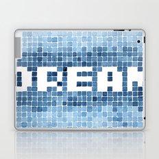 Dream watercolor mosaic typography Laptop & iPad Skin