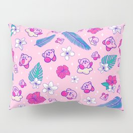 Pink Tropical Kirby Pillow Sham