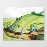 the hobbit Canvas Prints featuring The Hobbit by Emily