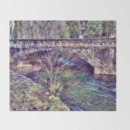 Water under the bridge Throw Blanket