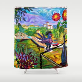 Kino in Zipolite Shower Curtain
