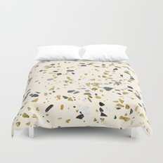 Glitter and Grit Yellow Gold Marble Duvet Cover