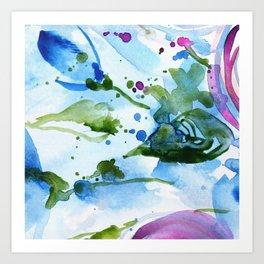 Bli-bla-blue Art Print