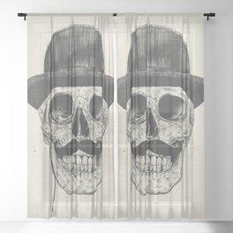 Gentlemen never die Sheer Curtain