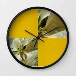 Pale Yellow Poinsettia 1 Blank Q7F0 Wall Clock
