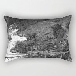 Alpine Bridge Adventure B&W Rectangular Pillow