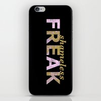 shameless iPhone & iPod Skins featuring shameless FREAK by themicromentalist