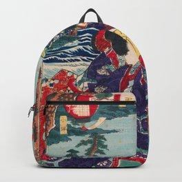 Toyohara Kunichika - Genji Excursion to Enoshima Island (1863) Backpack