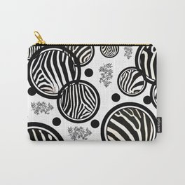Zebra Circles Carry-All Pouch