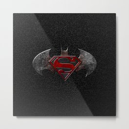 Bat man - Superman Metal Print