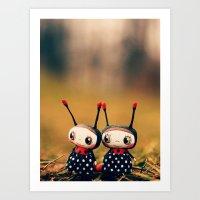 Ladybug dolls Art Print