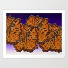 Australica Hibiscus Art Print