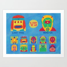 Fantastic Fighters Art Print
