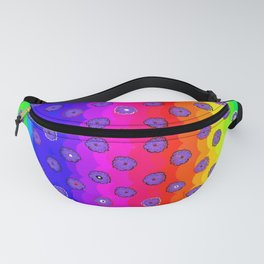 Rainbow and purple flowers Fanny Pack