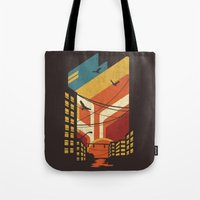 street art Tote Bags featuring Street by The Child