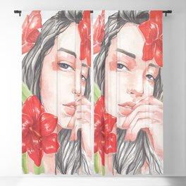 Red Amaryllis Blackout Curtain