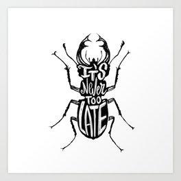 Typo Bug Art Print