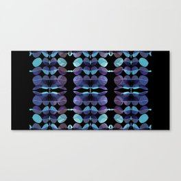 """Retro Blue Abstract painting"" Canvas Print"