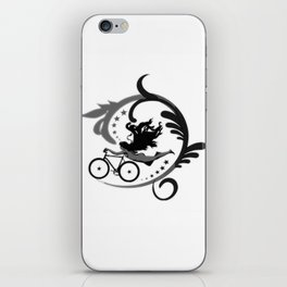 Star Girl Bike Swirl iPhone Skin