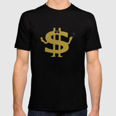 High Class Lifestyle Black MEDIUM Mens Fitted Tee