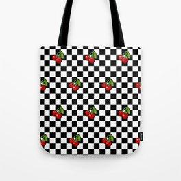 Checkered Cherries Tote Bag