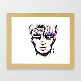 Guy in bandana Framed Art Print