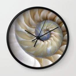 Nautilus Shell Wall Clock