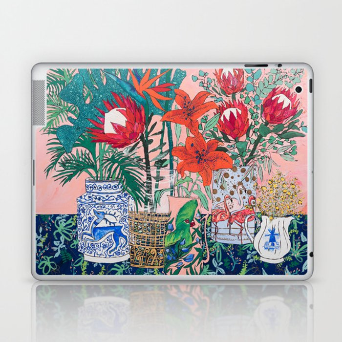 The Domesticated Jungle - Floral Still Life Laptop & iPad Skin