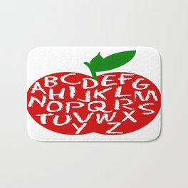 An ABC Apple Bath Mat