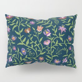 Folk Art Flowers Climbing Vines in Fall Colors Pillow Sham