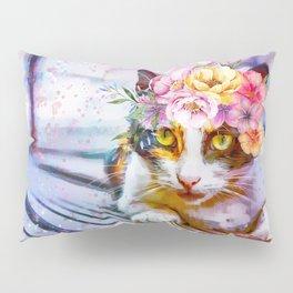 Flower Power Pussycat Pillow Sham