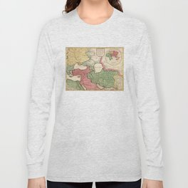 Map of the Middle East (1712) Long Sleeve T-shirt