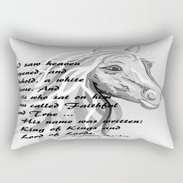 White Horse of a King Rectangular Pillow