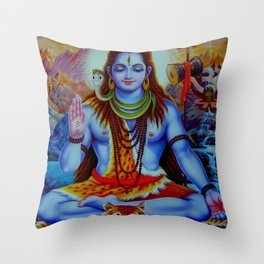 Shiva - Energize your day with his power Throw Pillow