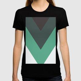 Sage Chevron Stripes T-shirt